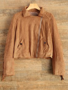 Suede Tassels Jacket - Brown Xl