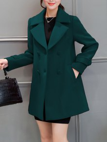Lapel Collar Swing Peacoat