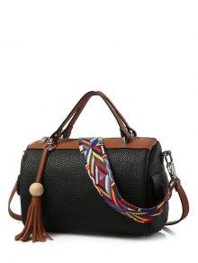 حقيبة يد نسائية من الجلد لون بني - أسود