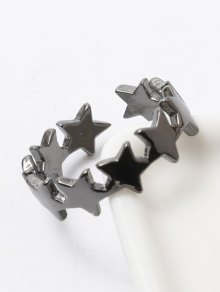 Polished Star Cuff Ring - Gun Metal