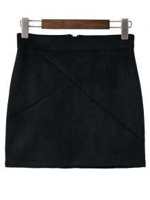 Mini Faux Suede Skirt - Black M