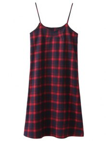 Tartan Midi Slip Plaid Dress