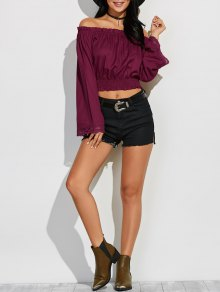 Épaule Off Flared manches Blouson Top