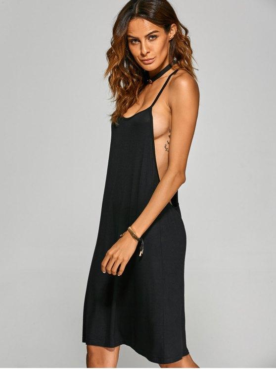 Racerback Knee Length Club Cami Dress - BLACK XL Mobile