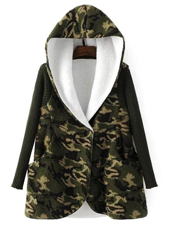 outfit Fleece Lined Camo Coat - CAMOUFLAGE ONE SIZE