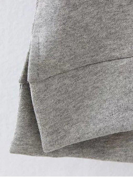 Opera Mask Print Plus Size Sweatshirt - GRAY 3XL Mobile