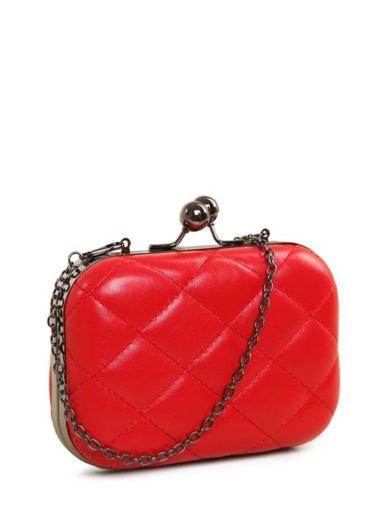 Kiss Lock Quilted Evenig Bag -   Mobile