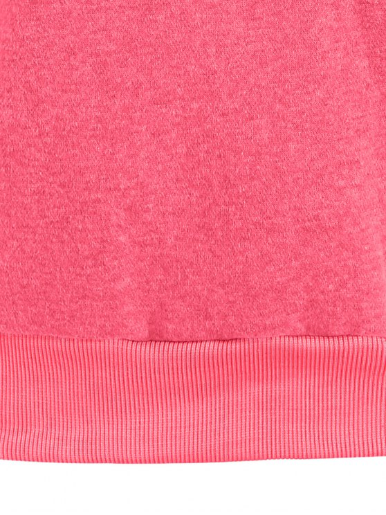 Color Block Long Sleeve Pullover Hoodie - GREEN M Mobile