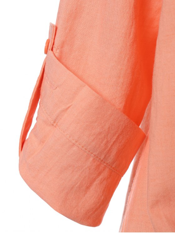 High Low Chiffon Blouse - NUDE PINK XL Mobile