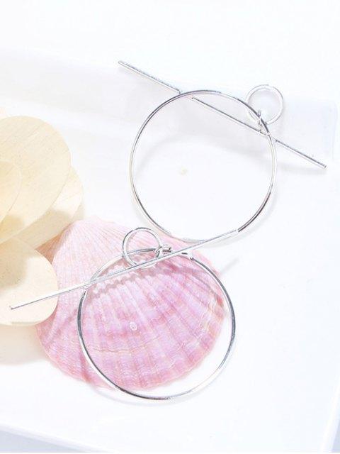 sale Filigree Round Circle Hoop Earrings - SILVER  Mobile