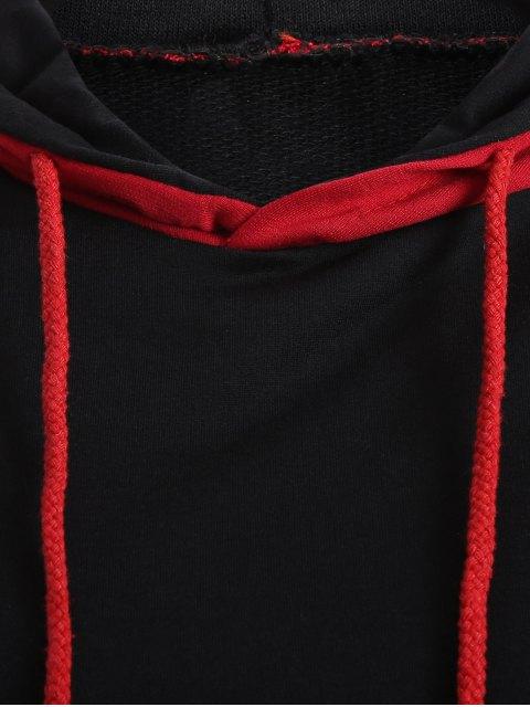 women Casual Raglan Sleeve Hoodie - RED M Mobile