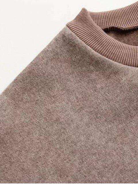 womens Eye Pattern Sweatshirt Dress - BLACK ONE SIZE Mobile