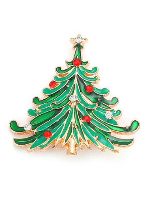 sale Rhinestone Christmas Tree Pentagram Brooch -   Mobile