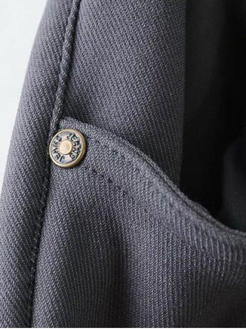 shops Casual Fleece Narrow Feet Pants - BLACK 2XL Mobile