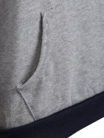 Checked Pocket Hoodie - BLACK XL Mobile