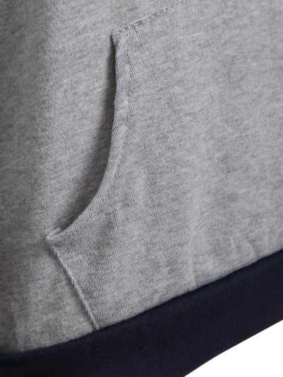 Checked Pocket Hoodie - BLACK M Mobile