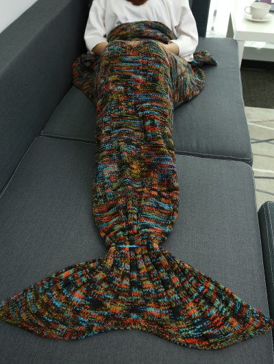 Wrap Mermaid Tail Blanket - COLORMIX  Mobile