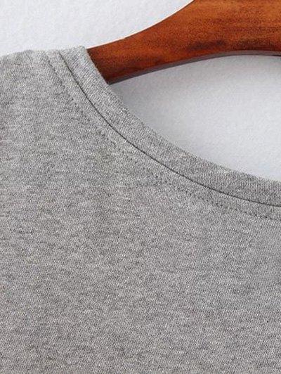 Opera Mask Print Plus Size Sweatshirt - GRAY 4XL Mobile