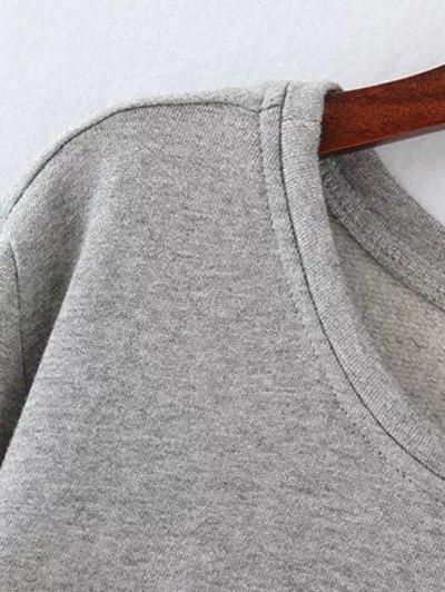 Opera Mask Print Plus Size Sweatshirt - GRAY 2XL Mobile