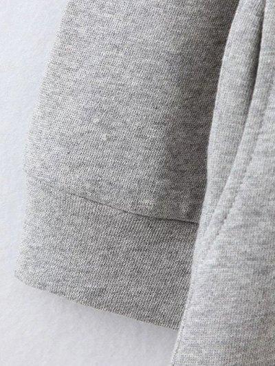 Opera Mask Print Plus Size Sweatshirt - LIGHT COFFEE 4XL Mobile