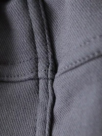 Casual Fleece Narrow Feet Pants - BLACK 4XL Mobile