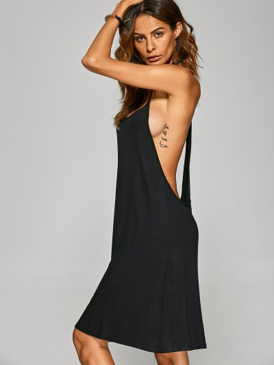 Racerback Cami Dress - BLACK M Mobile