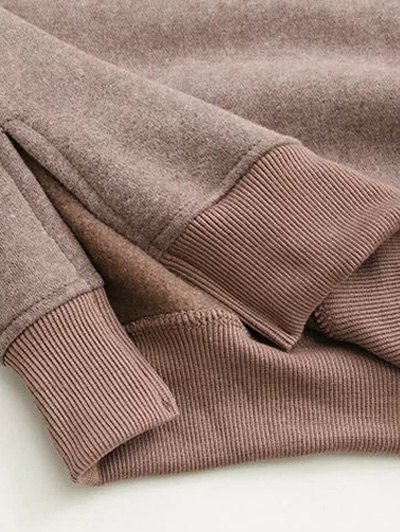 Eye Pattern Sweatshirt Dress - BLACK ONE SIZE Mobile