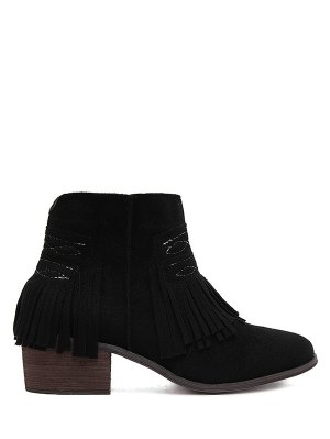 Fringe Ankle Boots Fashion Shop Trendy Style Online | ZAFUL