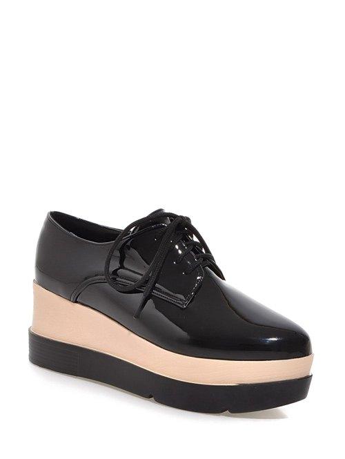 Pointed Toe Platform Wedege Shoes
