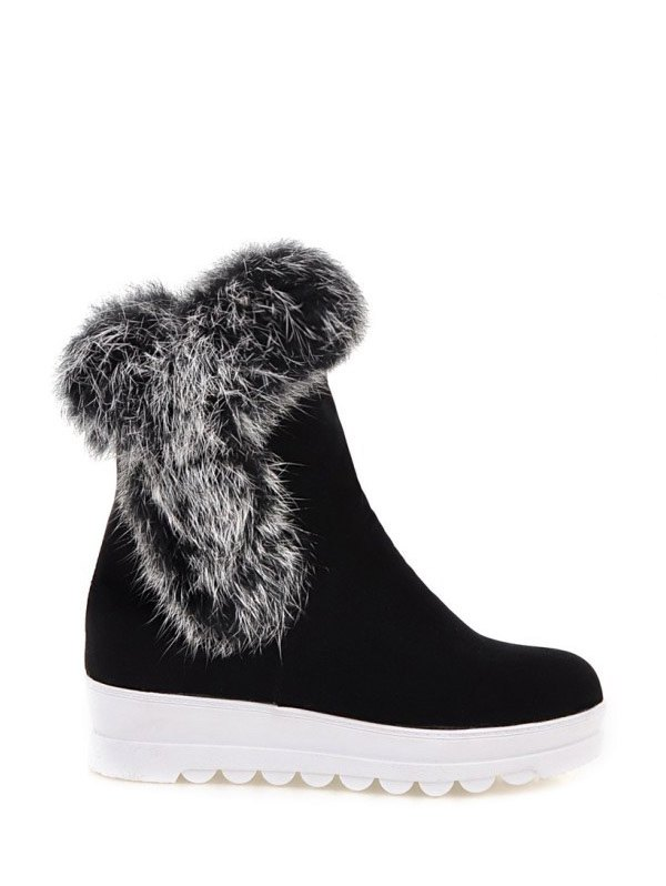 Furry Short Boots
