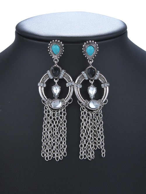 Faux Crysle Tassel Drop Earrings