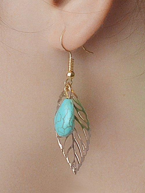 Leaves Turquoise Drop Earrings