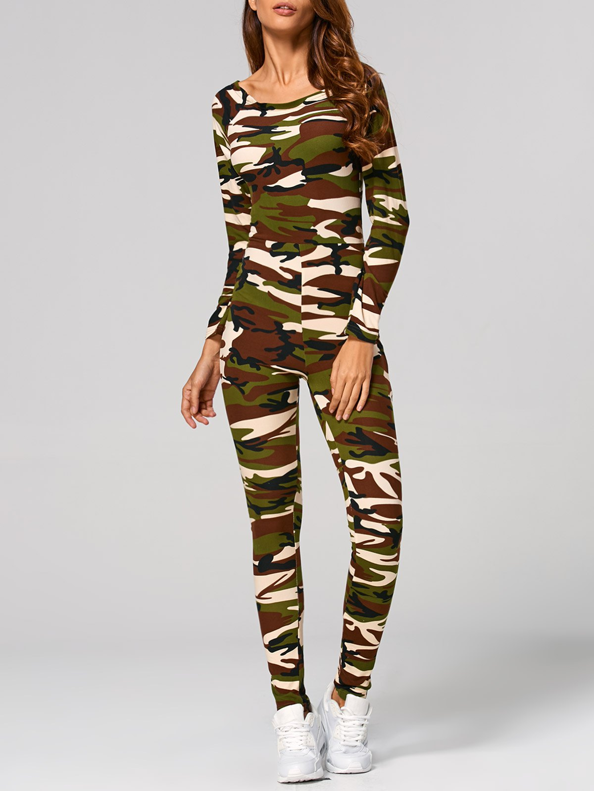 Camouflage Printed Jumpsuit