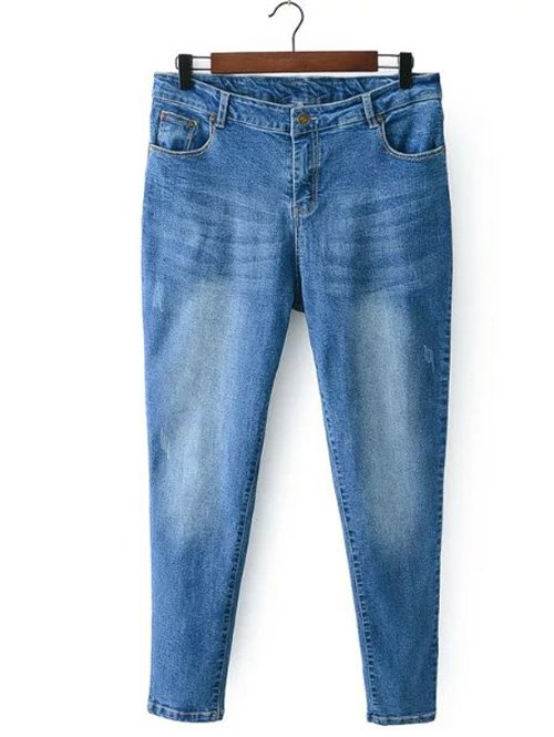 Zip Fly Denim Pants