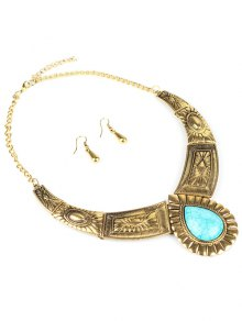 Faux Turquoise Jewelry Set
