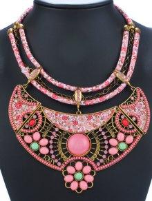 Vintage Enamel Floral Pendant Necklace