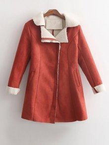 Buy Fleece Lined Faux Suede Winter Coat - JACINTH M
