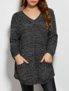 Pockets V Neck Sweater