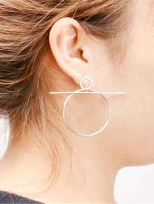 Filigree Round Circle Hoop Earrings - Silver