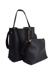 Concise Chains PU Leather Shoulder Bag