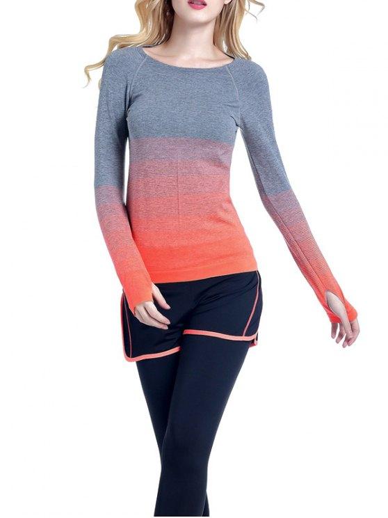 Ombre Yoga Gym T-shirt - Orange S