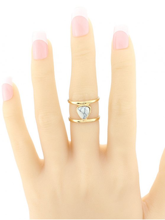 Faux Turquoise Cage Ring -   Mobile