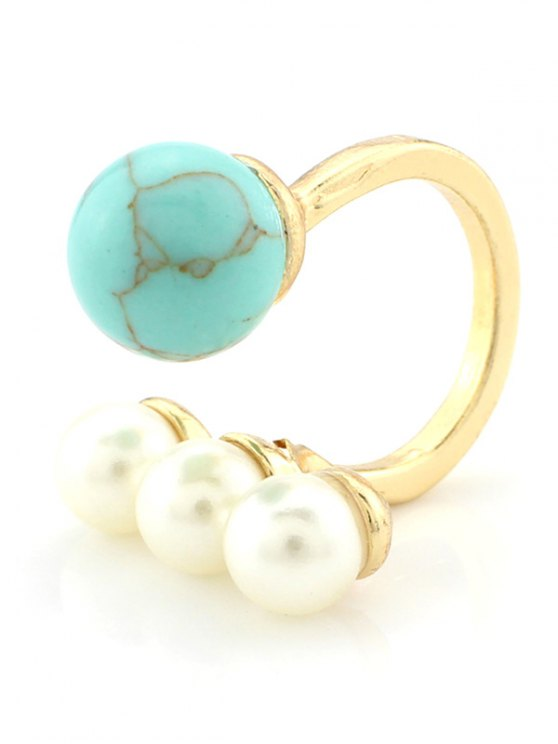 Faux Pearl Ball Ring -   Mobile