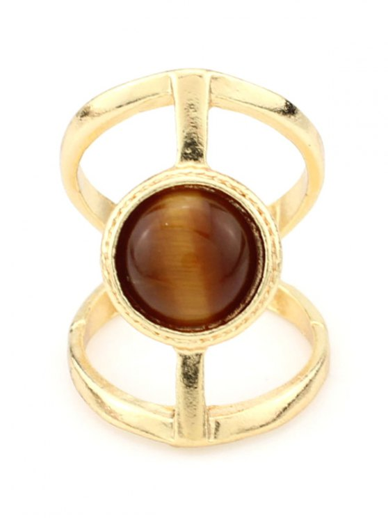 Natural Stone Hollow Ring -   Mobile