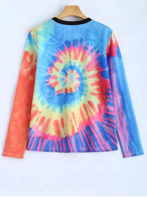 shop Stay Chill Tie-Dyed T-Shirt - MULTICOLOR L Mobile