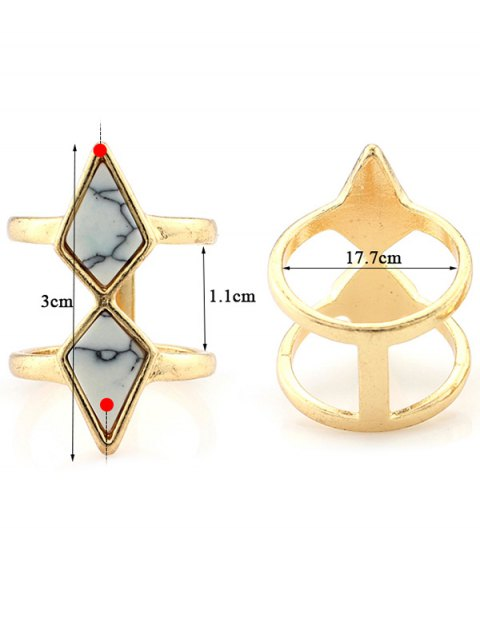 shops Rhombus Cage Ring - WHITE  Mobile