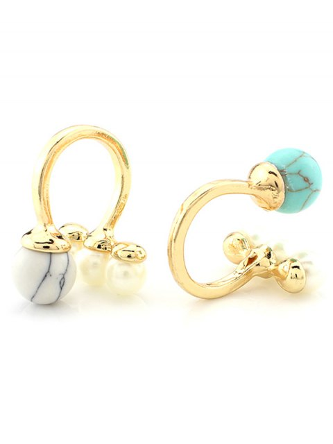 trendy Faux Pearl Ball Ring -   Mobile