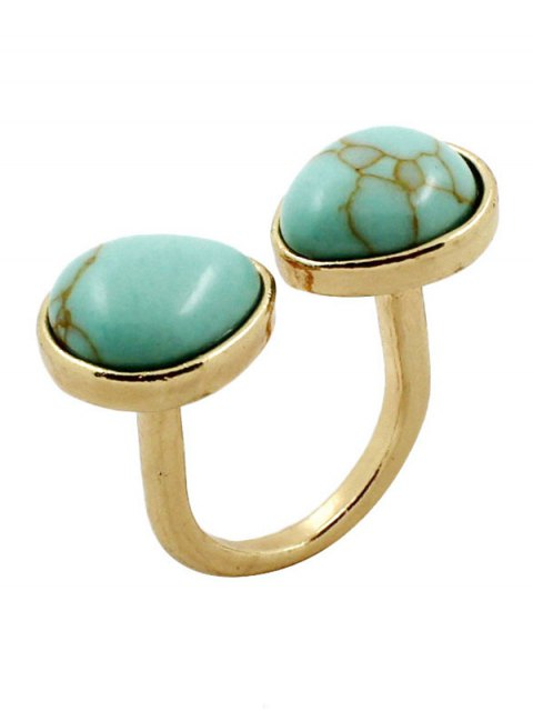 unique Faux Turquoise Cuff Ring - TURQUOISE  Mobile