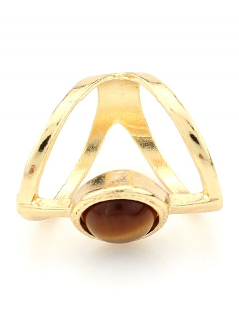 sale Natural Stone Hollow Ring -   Mobile