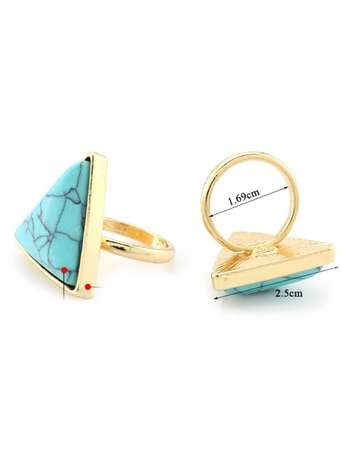 buy Triangle Faux Turquoise Ring - TURQUOISE  Mobile